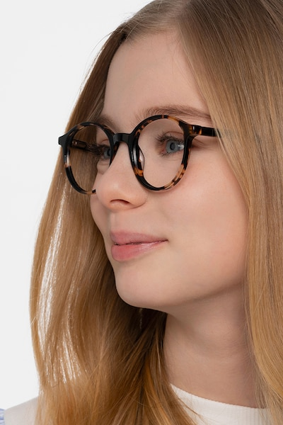 Excel Tortoise Acetate Eyeglass Frames for Women from EyeBuyDirect