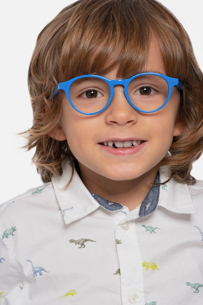 Magic Blue Acetate Eyeglass Frames for Men from EyeBuyDirect
