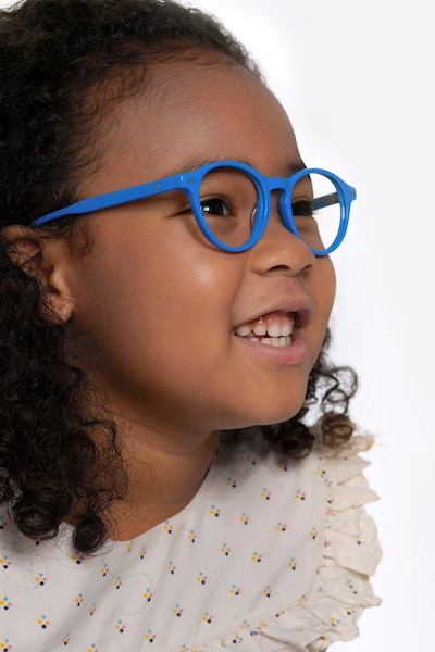 Magic Blue Acetate Eyeglass Frames for Women from EyeBuyDirect, Front View
