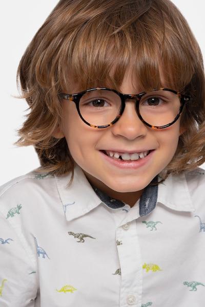 Magic Tortoise Acetate Eyeglass Frames for Men from EyeBuyDirect, Front View