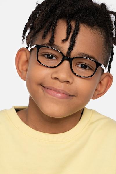 Leap Black Acetate Eyeglass Frames for Men from EyeBuyDirect