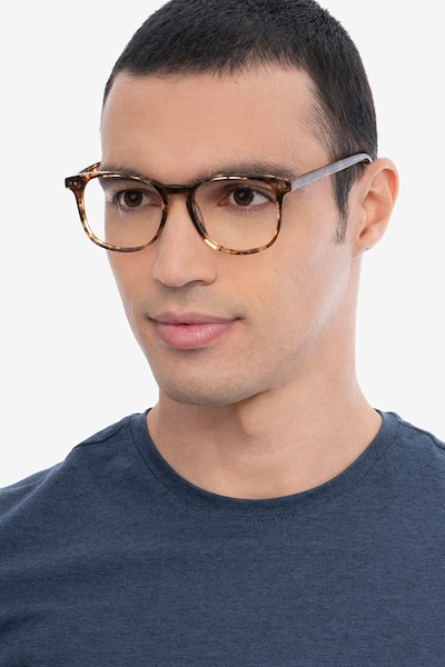 Ander Tortoise Acetate Eyeglass Frames for Men from EyeBuyDirect, Front View