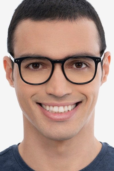 Ander Gray Clear Acetate Eyeglass Frames for Men from EyeBuyDirect