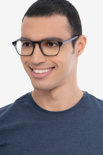 Orchid Gray Acetate Eyeglass Frames for Men from EyeBuyDirect, Front View