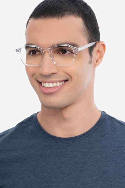Orchid Clear Acetate Eyeglass Frames for Men from EyeBuyDirect, Front View