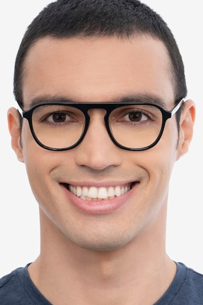 Ida Black Acetate Eyeglass Frames for Men from EyeBuyDirect