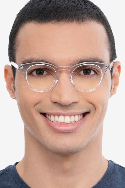 Flora Clear Acetate Eyeglass Frames for Men from EyeBuyDirect