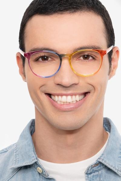 Rainbow Rainbow Plastique Montures de Lunettes pour Hommes d'EyeBuyDirect, Vue de Face