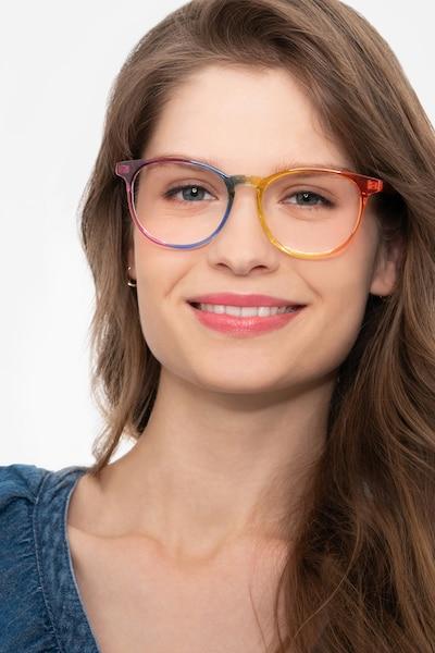 Rainbow Rainbow Plastique Montures de Lunettes pour Femmes d'EyeBuyDirect, Vue de Face
