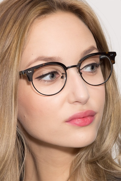 Annabel Tortoise Acetate-metal Eyeglass Frames for Women from EyeBuyDirect