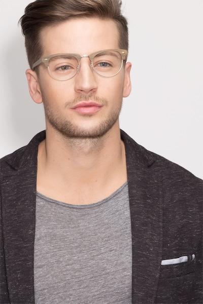 Esteban Brown Acetate Eyeglass Frames for Men from EyeBuyDirect, Front View