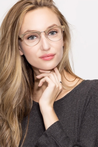 Esteban Brown Acetate Eyeglass Frames for Women from EyeBuyDirect, Front View