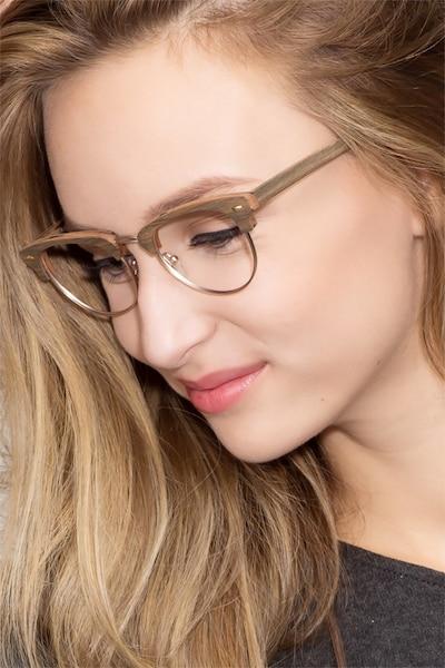Esteban Brown Acetate Eyeglass Frames for Women from EyeBuyDirect