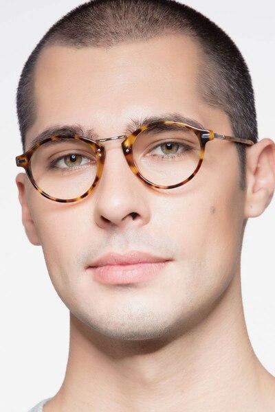 Shibuya Tortoise Acetate Eyeglass Frames for Men from EyeBuyDirect