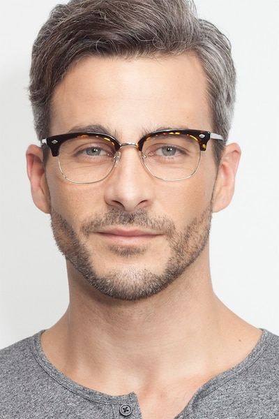 Japan Morning  Dark Tortoise  Acetate Eyeglass Frames for Men from EyeBuyDirect