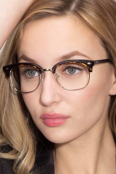 Japan Morning  Dark Tortoise  Acetate Eyeglass Frames for Women from EyeBuyDirect