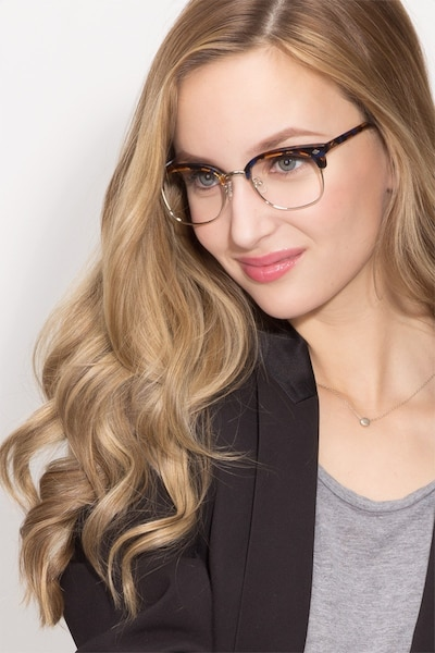 Japan Morning  Tortoise  Acetate Eyeglass Frames for Women from EyeBuyDirect, Front View