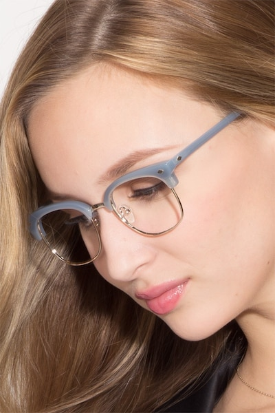 Japan Morning  Blue  Acetate Eyeglass Frames for Women from EyeBuyDirect