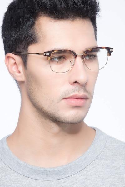 Kinjin Tortoise Acetate Eyeglass Frames for Men from EyeBuyDirect, Front View