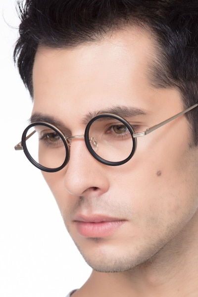 Roaring Black Metal Eyeglass Frames for Men from EyeBuyDirect