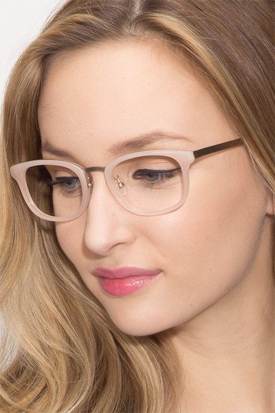 First Light Pink Acetate Eyeglass Frames for Women from EyeBuyDirect