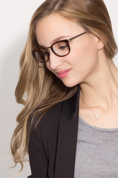 First Light Tortoise Acetate Eyeglass Frames for Women from EyeBuyDirect