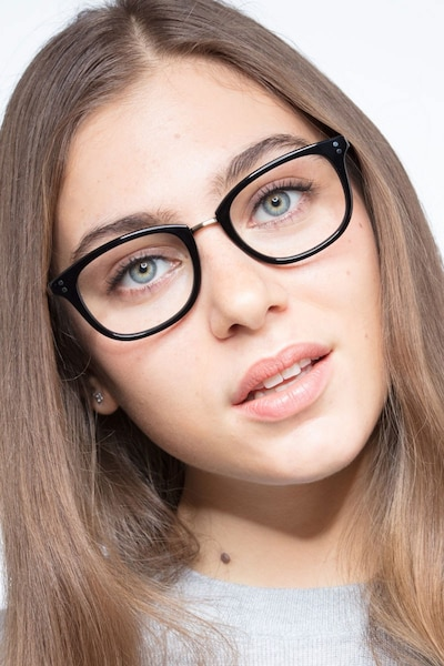 Synopsis Black Acetate Eyeglass Frames for Women from EyeBuyDirect