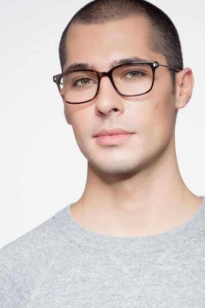 Motion Tortoise Acetate Eyeglass Frames for Men from EyeBuyDirect