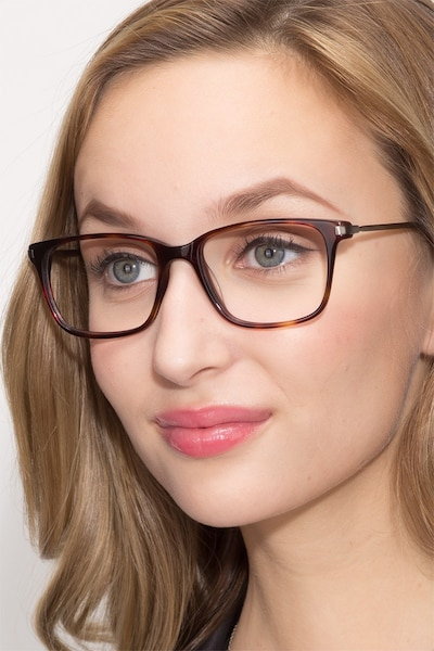 Motion Tortoise Acetate Eyeglass Frames for Women from EyeBuyDirect