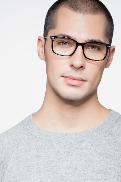 Phase Tortoise Metal Eyeglass Frames for Men from EyeBuyDirect