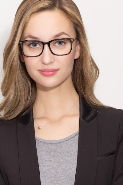 Phase Tortoise Acetate Eyeglass Frames for Women from EyeBuyDirect, Front View