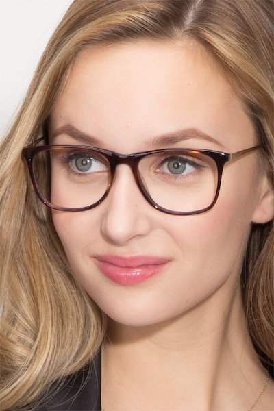 Contrast Tortoise Acetate Eyeglass Frames for Women from EyeBuyDirect