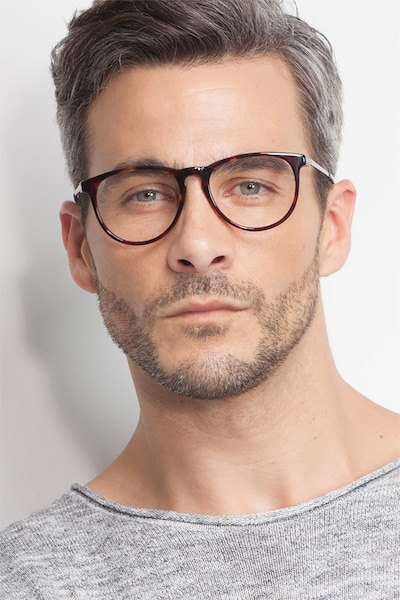 Ultraviolet Tortoise Acetate Eyeglass Frames for Men from EyeBuyDirect