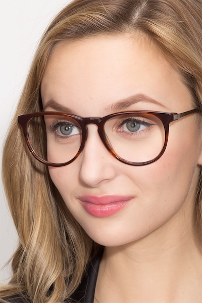 Ultraviolet Brown Striped Acetate Eyeglass Frames for Women from EyeBuyDirect