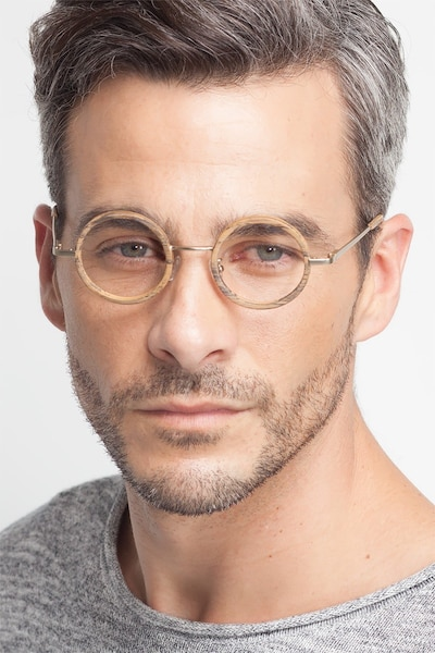 Roaring Brown Wood-texture Eyeglass Frames for Men from EyeBuyDirect