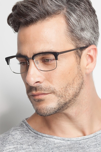 Wizard Black Metal Eyeglass Frames for Men from EyeBuyDirect