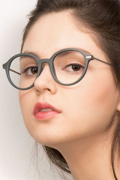 Juno Matte Green Metal Eyeglass Frames for Women from EyeBuyDirect