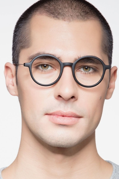 Potter Matte Black Metal Eyeglass Frames for Men from EyeBuyDirect