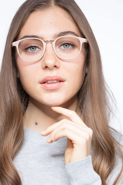 Miyoshi Sand Metal Eyeglass Frames for Women from EyeBuyDirect, Front View