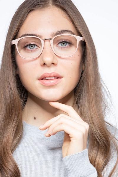 Miyoshi Sand Métal Montures de Lunettes pour Femmes d'EyeBuyDirect, Vue de Face