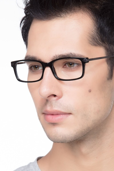 Requiem Black Acetate Eyeglass Frames for Men from EyeBuyDirect