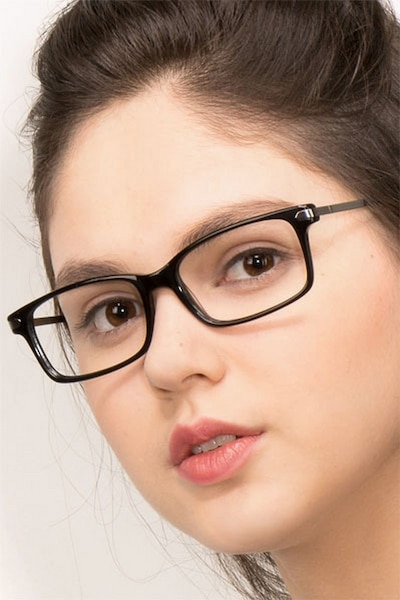 Requiem Black Acetate Eyeglass Frames for Women from EyeBuyDirect
