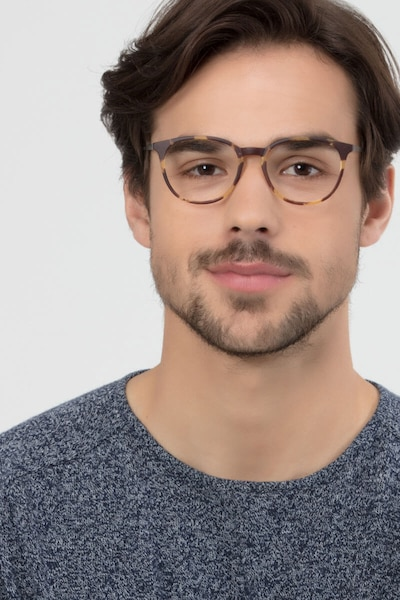 Gracious Light Tortoise Metal Eyeglass Frames for Men from EyeBuyDirect