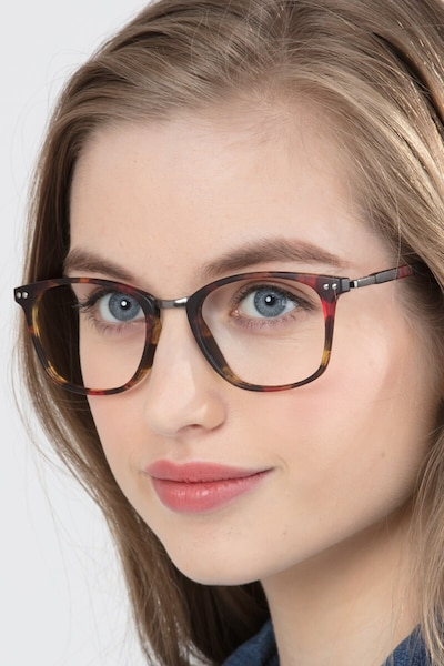 Savannah Floral Metal Eyeglass Frames for Women from EyeBuyDirect