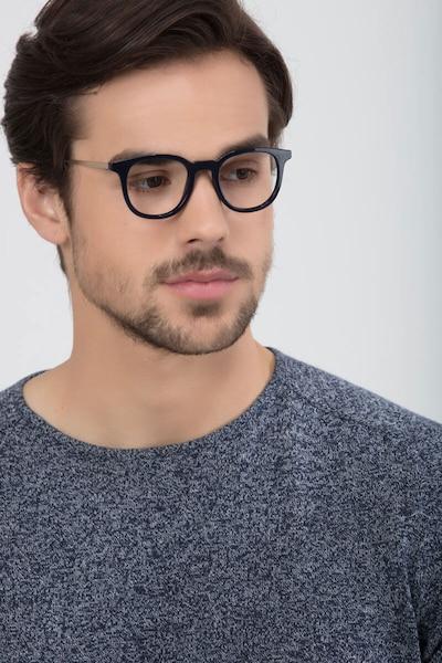 Chance Bleu marine  Métal Montures de Lunette de vue pour Hommes d'EyeBuyDirect, Vue de Face