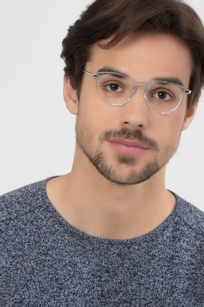 Mood Translucent Metal Eyeglass Frames for Men from EyeBuyDirect, Front View