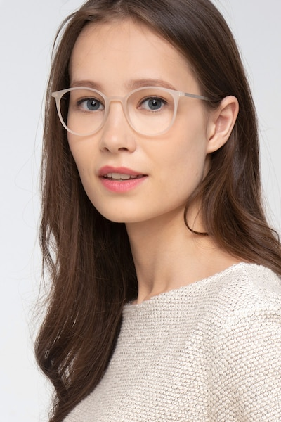 Tangent Clear Metal Eyeglass Frames for Women from EyeBuyDirect