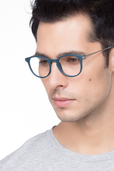 Mirando Marine Metal Eyeglass Frames for Men from EyeBuyDirect