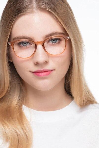 1149685b5b9 Mirando Light Brown Metal Eyeglass Frames for Women from EyeBuyDirect