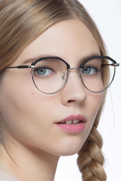 Festival Black Acetate Eyeglass Frames for Women from EyeBuyDirect